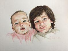 Family portraits by @blueshineart #blueshineart#watercolour #paintings