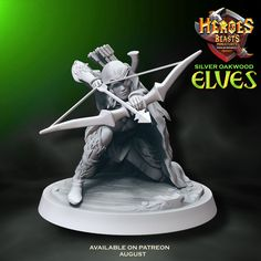 oops.. she has her eye on you . What would you call her? available on our Patreon in august  #dungeonsanddragons #rpg #d20 #roleplay #nerd #geek #dice #dnd5e #roleplayinggame #tabletopgames #dungeonmaster #gaming #tabletopgaming #fantasy #wargames #gamesworkshop #warhammer #warhammer40k #miniature #coolminis #minipainting #miniatures #dnd #patreon #art #elves #dnd #minianturednd # dndminis #3dprint #elf Tabletop Rpg, Tabletop Games, Dungeons And Dragons Characters, Because I Love You, D 20, Mini S, Mini Paintings, Nerd Geek, Fantasy Creatures