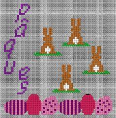 free cross stitch bunnys and easter eggs