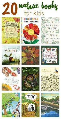 20 Nature Books for Kids (& Favorite Fall Shoes for Kids) - The Chirping Moms - - 20 Nature Books for Kids to Encourage a Love for the Outdoors. Favorite Fall Sneakers from See Kai Run & Printable Scavenger Hunt. Nature Activities, Book Activities, Sequencing Activities, Outdoor Activities, Homeschool Books, Homeschooling, Forest School, Nature Journal, Nature Study