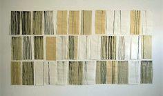 Pierrette Bloch: Lignes verticales,  36 dessins, Encres sur papier japon, 2005