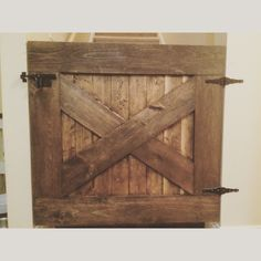 Custom made barn door baby gate, pet gate by AHomeyHouse on Etsy https://www.etsy.com/listing/240080530/custom-made-barn-door-baby-gate-pet-gate