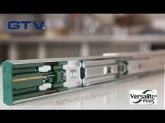 Prowadnica kulkowa ze spowalniaczem 45mm VERSALITE z linii PRESTIGE - najwyższa półka w prowadnicach STOLMET-akcesoria meblowe
