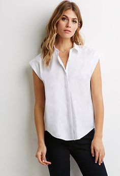 Cuffed Short Sleeve Shirt   Forever 21 - 2000079126