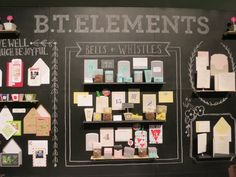 Chalkboard Display Wall. Inspiration for our gift basket display