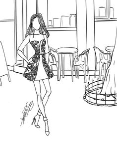 A Page From Bernadette Fashion Coloring Book Vol 2 Classy Casuals Available At