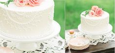 Butter cream lace piping wedding cake - doile lace cake by Sugar Bee Sweets, Alan Tsai Photography via Wedding Chicks