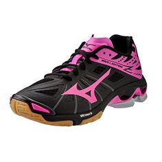 Mizuno Wave Lightning Z Womens Volleyball Shoes  Black  Pink Womens 85 -- Check this awesome product by going to the link at the image.(This is an Amazon affiliate link)
