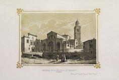Marco Moro - Chiesa di S. Maria in organo in Verona - 1850 circa, litografia stampata a seppia.