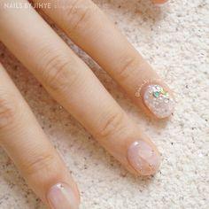 #셀프젤네일 #셀프네일 #넬스타그램 #여름네일 #ネイル #夏ネイル #クリアネイル #notd #nailstagram #nails2inspire #summernails