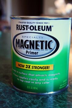 Magnetic Primer allows you to create surfaces that attract magnets almost anywhere. Combine with White Board or Chalkboard paint for an unlimited number of DIY uses! Tip: ask the paint shop to shake the can so the lead particles don't settle to the bottom!