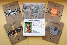 Safari Passport Party Invitations Set of 12 Safari Party, Jungle Theme Parties, Jungle Theme Birthday, Safari Birthday Party, Animal Birthday, 3rd Birthday Parties, Jungle Party, Jungle Safari, Farm Birthday