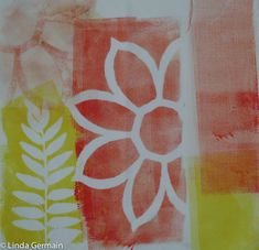 Enjoy some of my monoprinted fabric, using ink and the gelatin and glycerin plate. Want to learn more join us in the next session of Monoprinting on Fabric, the online printmaking workshop.