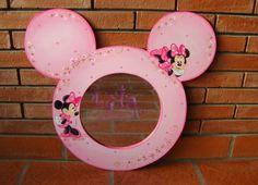 Lola Artesanías: Espejo con Minnie