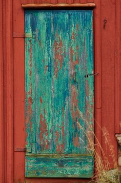 Love the colors...on an old barn
