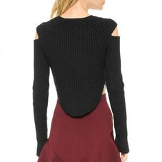 womens pullover knit sweater for autumn show shoulder arc sweater