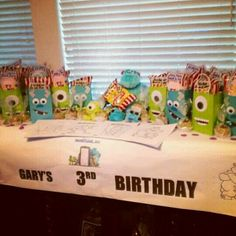 Monsters Inc. Party bags