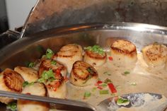 Sea Scallops in a Mustard Brandy Sauce (as you can see they go fast!)
