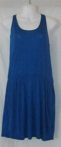 Bid starts at .99 cents    BCBG Maxazria Medium Dress NEW Womens Medium Dress Royal Blue Sun Dress CUTE ~~`