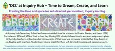 Creating the time and space for self-directed, personalized, inquiry learning. Secondary School, School Days, Curriculum, Self, Student, Education, Learning, Create, Resume