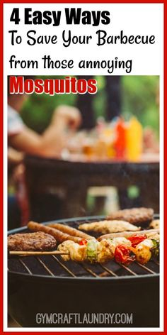 four easy ways to save your barbecue from mosquitoes. Homemade Solutions using essential oils and plants!