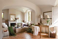 Decoração de: Sala de estar; manta verde; Casa de Valentina