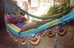 hamaca doble tejida a mano de algodón natural hamaca multicolor matrimonial especial algodón natural,bronce (argollas) tejido a mano