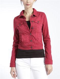Mavi Samantha Deep Red Denim Jacket | Jean Machine