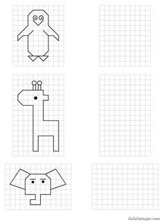 Dessins simples à reproduire sur quadrillage, CP | dessin | Pinterest | Math, Homeschool and ...
