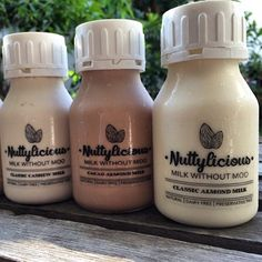 """Good morning   Try something new everyday, try """"milk without moo"""" by @nuttyliciousmilk today ❤️ Follow our Instagram, Twitter & Fb page @indohomemade for more Indonesian homemade food."""