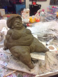 Paper Mache Crafts, Doll Crafts, Clay Crafts, Soft Sculpture, Sculptures, The Potter's Hand, Art Dolls, Paper Dolls, Pottery Lessons