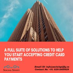 A full suite of solutions to help you start accepting #CreditCard Payment Visit: www.socialspiffy.co Email ID: info@socialspiffy.co