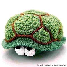 śliczny jest ten szydełkowy żółwik
