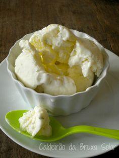 sorvete cremoso de limão
