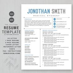 For Pages. Creative Resume TemplatesModern ...