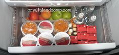 Making Snacks Accessible in the Fridge | CrystalandComp.com