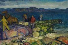 Dock Builders by George Bellows