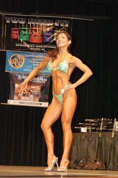 Maria Mobasseri (now 52) was 50 years old when she won the Masters Over 50 at the 2010 NGA Heart of America Natural Classic Bodybuilding, Figure & Bikini