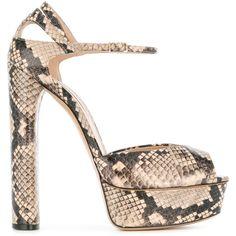 Casadei platform sandals (3.785 RON) ❤ liked on Polyvore featuring shoes, sandals, platform sandals, black sandals, black leather sandals, black platform shoes and leather platform sandals