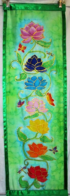 MADE TO ORDER Lotus Chakra wall hanging by HeavenOnEarthSilks, $115.00