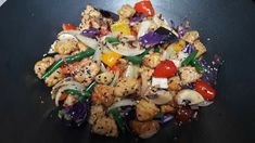 Cooked by Sri Tempeh, Kung Pao Chicken, Stir Fry, Fries, Meat, Live, Cooking, Ethnic Recipes, Food