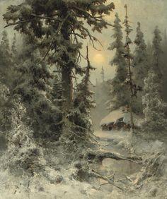 JULIUS SERGIUS VON KLEVER (RUSSIAN, 1850-1924) AFTER THE SNOWFALL