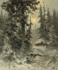 After the snowfall, 1897, Yuli Yulievich Klever