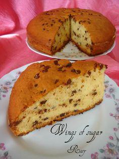 Torta vaniglia e gocce di cioccolato, ricetta Cake, vanilla and chocolate chips