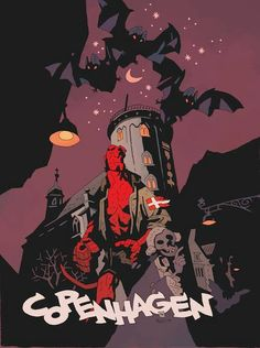 Mike Mignola poster for Art Bubble convention in Denmark