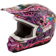 Amazon.com: Fly Racing Youth Kinetic Jungle Helmet - Purple/Pink / Small: Automotive