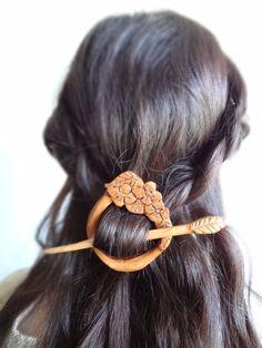 Haarnadeln - spring fairy mori girl gypsy boho flower hair pin - ein Designerstück von theancientmuse bei DaWanda