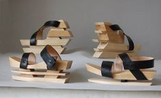 Architectural shoes by Pavlina Miklasova