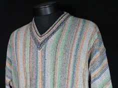 Raffi Colorful Cosby Sweater Mens Large Made in Italy Cotton Blend Looks Great #Shopping #Style #Sweater #eBay @eBay! http://r.ebay.com/wKetDM