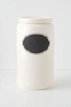 Chalkboard Storage Jar, Tall   Anthropologie.eu